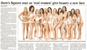 "Is it just me, or are ""real women"" all veeeeery similar looking..."