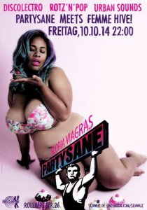 The flyer for the Femme Party