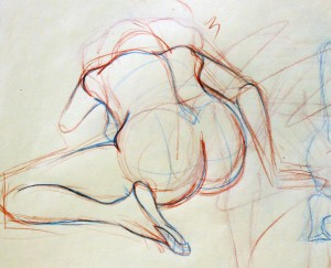 Our house was full of life drawings like this (image from kristinagaz.blogspot.com.au)