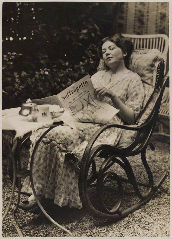 NPG x32608; Dame Christabel Pankhurst by Record Press